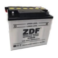 Аккумулятор ZDF YB30L-BS   12V 30 a/h  DRY CHARGET