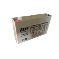 Аккумулятор тяговый ZDF DTM607 AGM 6V 7 a/h