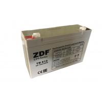 Аккумулятор тяговый ZDF DTM612 AGM 6V 12 a/h