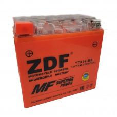 Аккумулятор ZDF YTX14-BS 12V 14 a/h GEL ORANGE